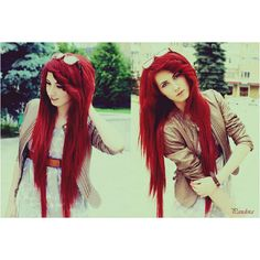 Long Red Hair, love the length even if it is extensions