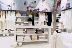 The White Company - London White Stuff, The White Company, Retail Space, Visual Merchandising, 3d Design, Bathrooms, Shops, Shelves, Spaces