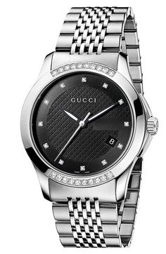 Gucci 'G Timeless' Diamond Bracelet Watch | Nordstrom