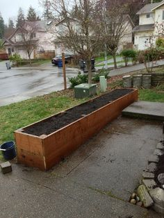 9 Finished and filled with gardening dirt