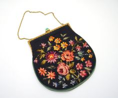 Beautiful Vintage Petit Point Purse with by UpswingVintage on Etsy
