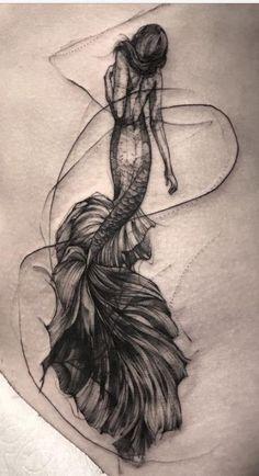 Mermaid - Land of Tattoos Tattoos 3d, Love Tattoos, Beautiful Tattoos, Tattoo Drawings, Body Art Tattoos, Tatoos, Sea Life Tattoos, Octopus Tattoos, Sketch Tattoo