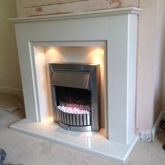 Today's job aurora marble fireplace with dimplex electric fire