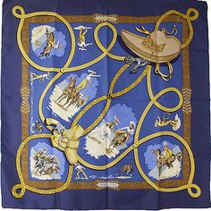 Hermes Scarf Shawl 100% Silk Carre 90 CHARREADA AUTHENTIC | Clothing, Shoes & Accessories, Women's Accessories, Scarves & Wraps | eBay!