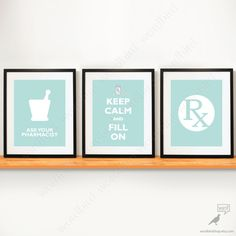 Set of 3 / Pharmacy Student gift pharmacy poster by WordBirdShop, $26.25