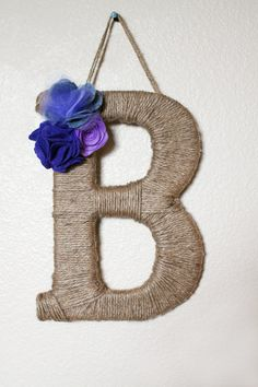 jute wrapped letter b - Google Search