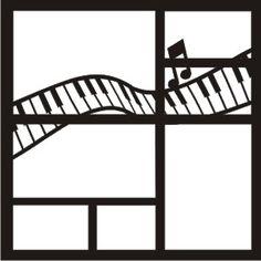 EZLaserDesigns : Music Piano Keys Art scrapbook overlay layout