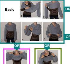 Pullover Schal / Schal mit Ärmeln an beiden Enden. von vinevirak
