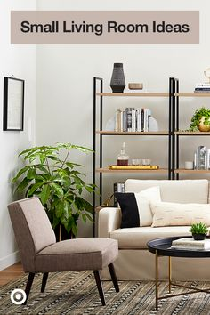 Find design tips, space-saving furniture & decor ideas to give your small living room or studio apartment a stylish & functional makeover. Apartment Furniture, Studio Apartment, Furniture Decor, Space Saving Furniture, Furniture For Small Spaces, New Living Room, Small Living, Target Bedding, Small Room Decor