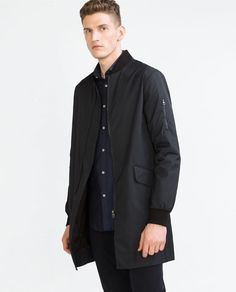 LONG BOMBER JACKET | zara | dry clean only