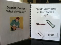 Need an interactive dentist or oral health themed activity?... http://filefolderheaven.com Print, laminate, bind, and Velcro!