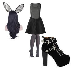 """""""Shadow Bonnie (Five Nights At Freddy's)"""" by pity-party-1 ❤ liked on Polyvore featuring BCBGMAXAZRIA, Donna Karan and Jeffrey Campbell"""