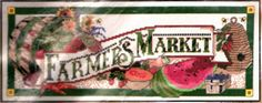 "CANDAMAR DESIGNS 1999 "" FARMERS MARKET"" COUNTED CROSS STITCH KIT ~ SEALED #CanterburyDesigns #Frame Counted Cross Stitch Kits, Farmers Market, Counting, Marketing, Frame, Ebay, Design, Counted Cross Stitches, A Frame"