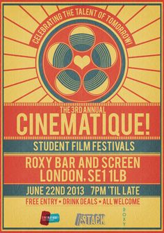 Cinematique! Film Festival Poster 2013 by ~RicGrayDesign on deviantART