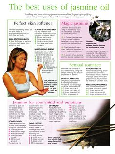 Mind, Body, Spirit Collection - The Best Uses Of Jasmine Oil Jasmine Essential Oil, Jasmine Oil, Doterra Oils, Doterra Essential Oils, Essential Oil Blends, Healing Oils, Healing Herbs, Natural Healing, Young Living Oils