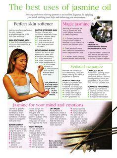 Best uses for Jasmine oil  www.fb.com/AllAboutUMassage #abumassage #AllAboutUMassage
