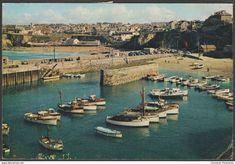 Newquay Harbour and Towan Beach, Newquay, Cornwall, 1964 - J Arthur Dixon Postcard