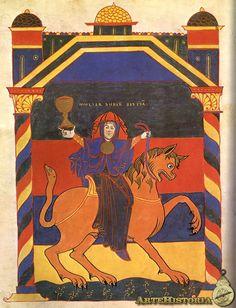 Beato de Saint-Sever. Mujer sobre la Bestia