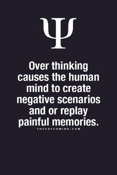 Depends on whether your brain overthinks the positive or negative aspect of a memory...overthinking isnt the problem -its the objective of good or bad that determines pain.