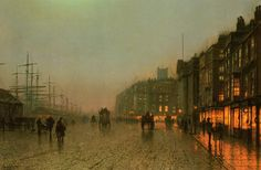 John Atkinson Grimshaw  Liverpool from Wapping, 1875