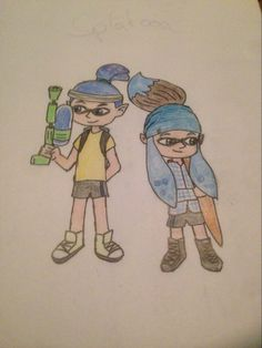 My brother and I in Splatoon