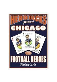 Chicago Bears Football Heroes Playing Cards