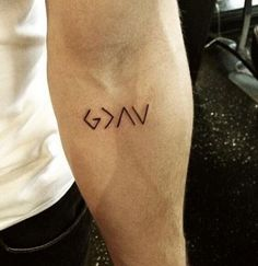 This tattoo is so simple, but the power behind it is great. It looks like just…