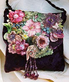Bordado em pedraria flores estilo Boho Chic