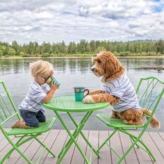 Adorable Pictures Of A Boy And His Dog Doing Everything Together