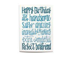 Happy Birthday Boyfriend, Happy Birthday For Her, Birthday Quotes For Me, Birthday Text, Birthday Card Sayings, Birthday Wishes Cards, Birthday Cards For Friends, Happy Birthday Funny, Husband Birthday