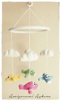 *** Directions plane cobwebs Amigurumi Amigurumi Pattern-Free Baby Mobile - Tiny Mini Designer
