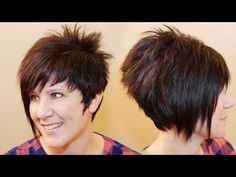 ▶ HOW TO CUT WOMENS HAIR // Short Pixie Assymetrical A-line Haircut Tutorial - YouTube