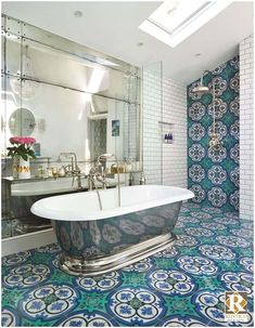 Check out these easy Spanish style bathroom ideas from the pros at Rustico Tile & Stone. These are easy & affordable ways to create your bathroom sanctuary. Boho Bathroom, Diy Bathroom Decor, Bathroom Styling, Bathroom Interior, Small Bathroom, Bathroom Ideas, Bathroom Marble, Bathroom Beadboard, Bathroom Shelves