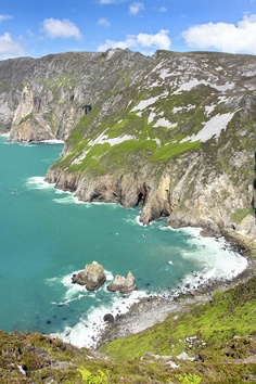 Tall sea cliffs of Slieve League - Donegal, Ireland