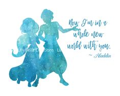 Items similar to Aladdin Watercolor Silhouette with Quote x + Greeting Card ~ Disney Couple, Love, Jasmine on Etsy Disney Aladdin Quotes, Disney Love Quotes, Disney Couples, Disney Girls, Class Art Projects, Canvas Art Projects, Aladdin Wallpaper, Disney Wallpaper, Art Prints Quotes