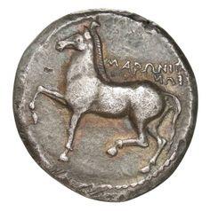 Tetradracma - argento - Maroneia, Tracia, Grecia (436-410 a.C.) - ΜΑΡΩΝΙΤ/ΕΩΝ  un cavallo al passo vs.sn. - Münzkabinett, Berlin