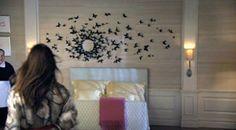 Love the black butterfly art in Serena's room on Gossip Girl!
