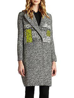 Nala Tweed-Print Coat