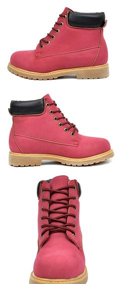92afabbd9345 DREAM PAIRS TACOMA 1 Womens Fashion Casual 6 Inches Lace Up Boots Booties  Red Size 11