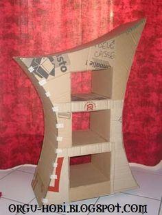 KNITTING PATTERNS & ÖRGÜ MODELLERİ: Karton Kutudan mobilya (komidin) Yapımı