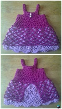 Crochet Fairy Tale Rosy Summer Dress Free Pattern - Crochet Girls Dress Free Patterns