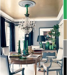 The Decorista-Domestic Bliss: 3 Ways with Emerald {PANTONE'S COLOR OF THE YEAR 2013}