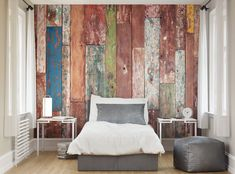 ohpopsi Photo Wallpapers & Ready Made Wall Murals Bedroom Wallpaper Murals, Wood Wallpaper, Wall Murals, Wallpaper Paste, Feature Wallpaper, Bohemian Living, Weathered Wood, Wood Texture, Textured Walls