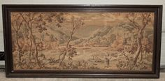 Antique Framed Flemish Tapestry   Antique Tapestries   Inessa Stewart's Antiques