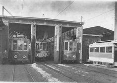 28-02-1933 De laatste rit van deze trams naar glanerbrug, daarna busdienst... Spoordijkstraat Enschede