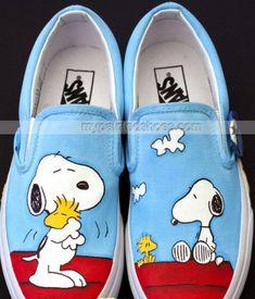 Snoopy Vans Hand Painted Vans Shoes