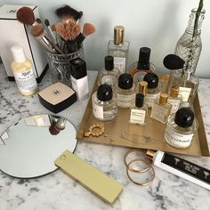 Perfume Storage Ideas and Inspiration For Kar. Perfume Storage Ideas and Inspiration For Karen Gilbert Perfume Storage, Perfume Organization, Perfume Display, Vanity Organization, Makeup Storage, Storage Organization, Makeup Display, Bedroom Organization, Perfume Collection