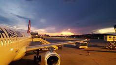 Nascer do Sol no aeroporto de Athenas - Grécia