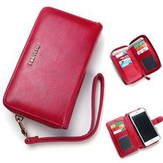 Women Men PU Leather Universal 5.5 Inch Phone Case Vintage Phone Bag Crossbody Bag