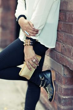 Edgy gold accessories